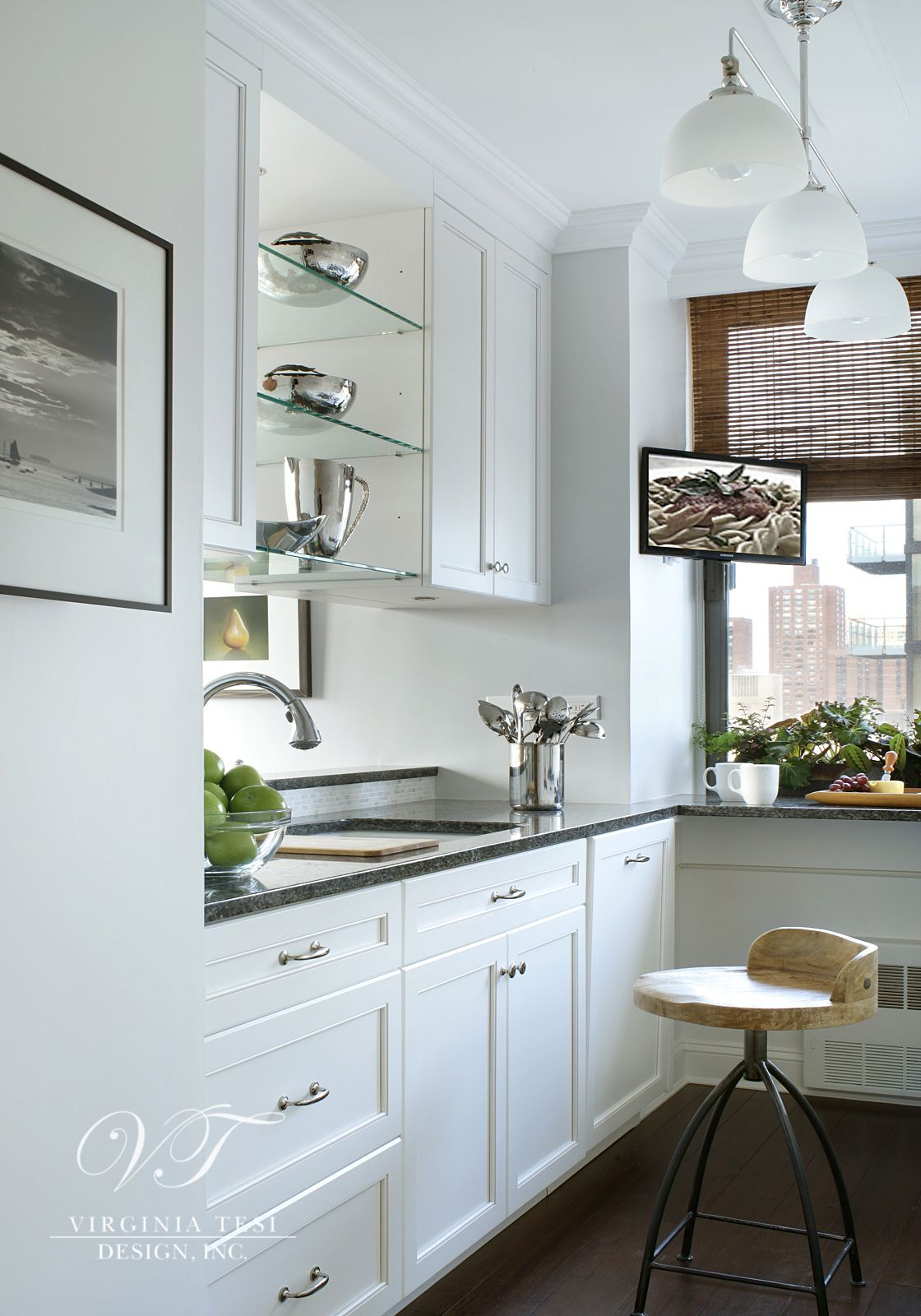 Home Tour: Transitional Apartment - Kitchen -- Clean and ...