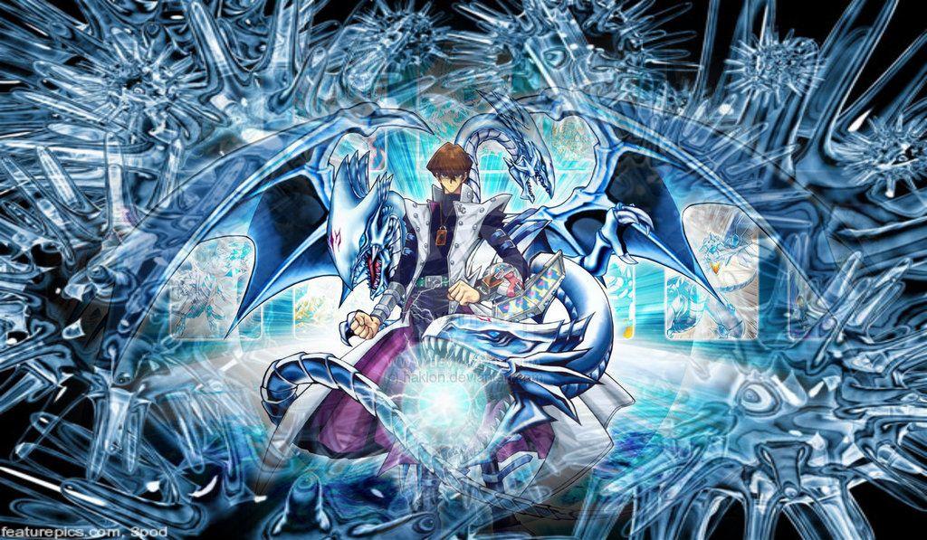 Seto kaiba blue eyes white dragon background seto kaiba