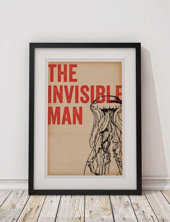The Invisible Man  Universal Monsters 12x18 by BubblegumPrints, $20.00