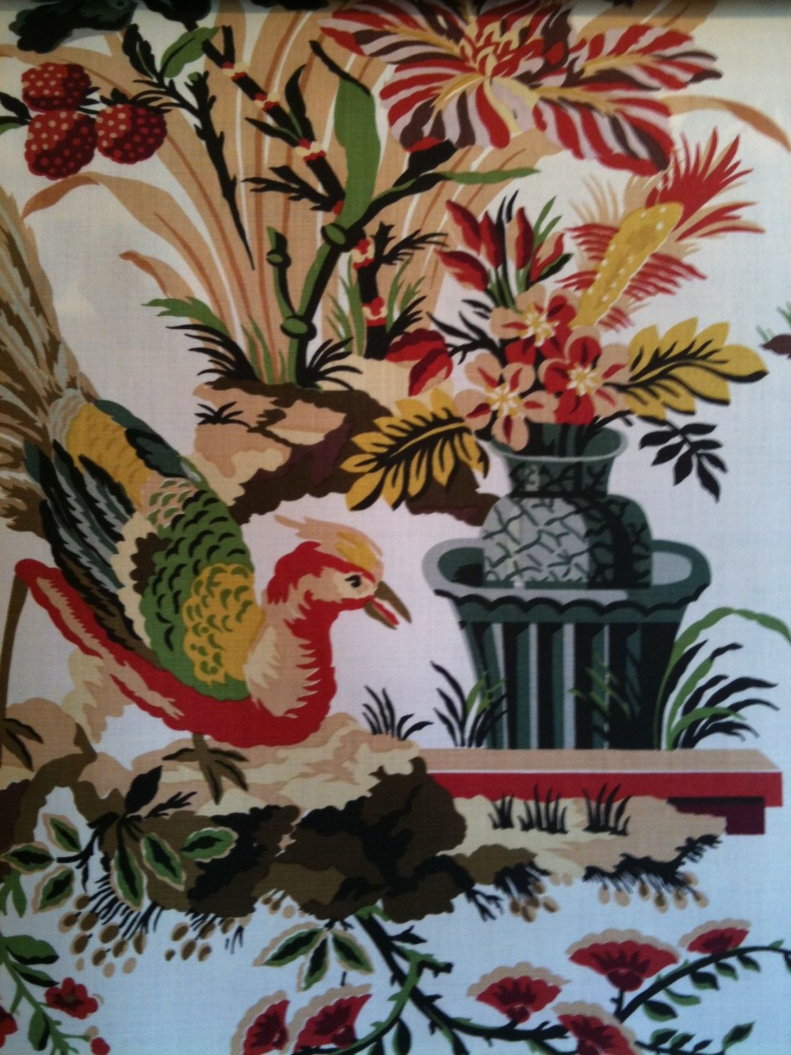 Brunschwig And Fils Le Lac Handprint Fabric Chinoiserie Fabric Fabric Decor Chinoiserie