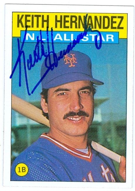 Keith Hernandez 1986 Nl All Star Topps Card 1986 New York