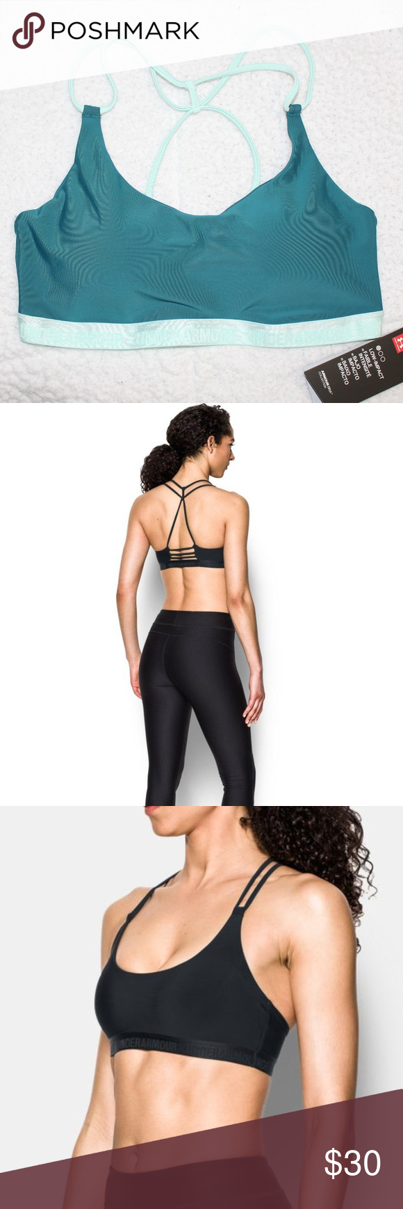 867e07df43d70 NWT Under Armour Low Triangle Sports Bralette Selling NWT Under Armour Low Triangle  Back Sports Bralette