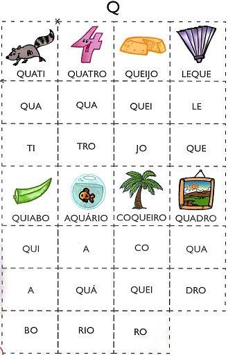 Varias Cartelas Com Silabas Para Imprimir Saber Pragmatico