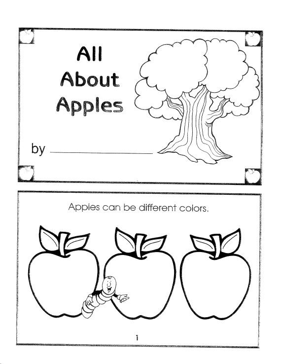 all about apples coloring sheet