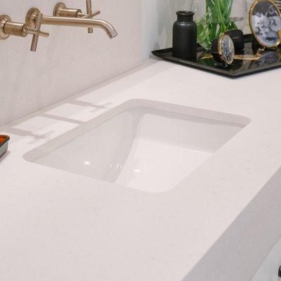 Kohler Ladena Ceramic Rectangular Undermount Bathroom Sink With