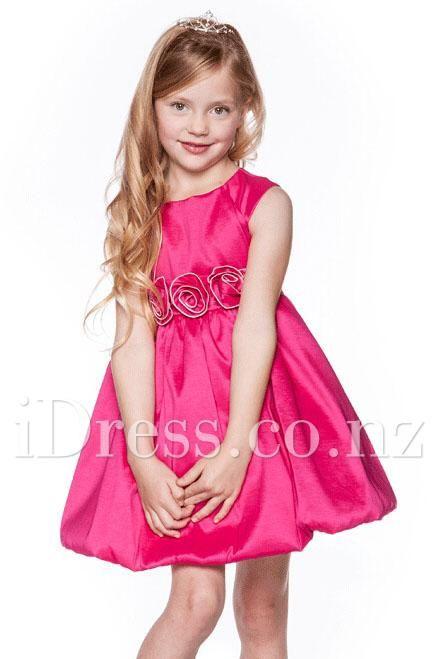 Fairy pink 3d flower empire short flower girl dress flower girl fairy pink 3d flower empire short flower girl dress mightylinksfo