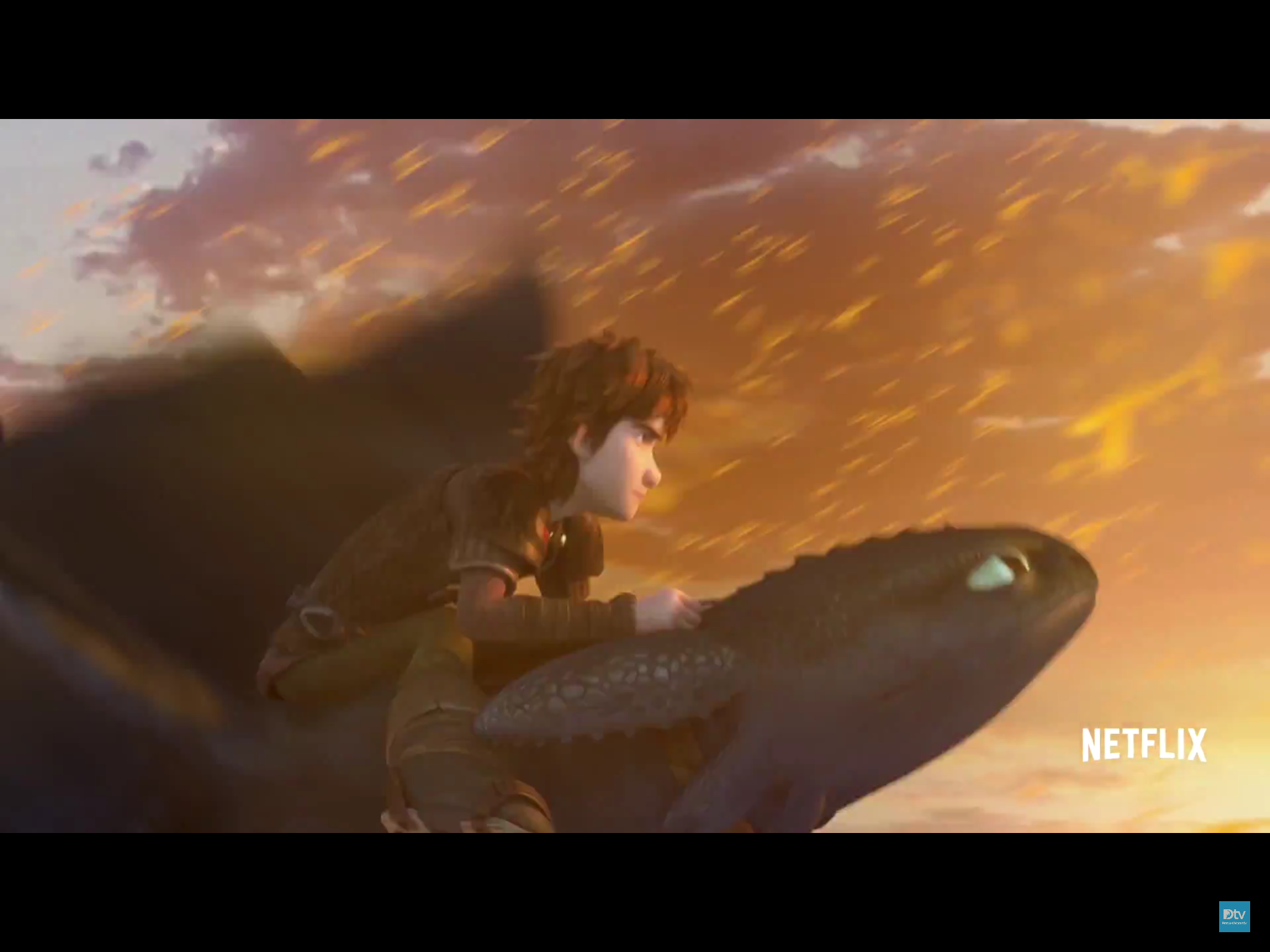 Toothless races through the fireworm cloud