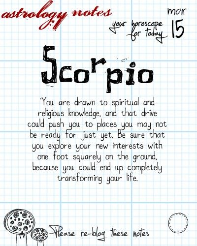 Scorpio Astrology Note: iFate.com is the best site for all things astrology
