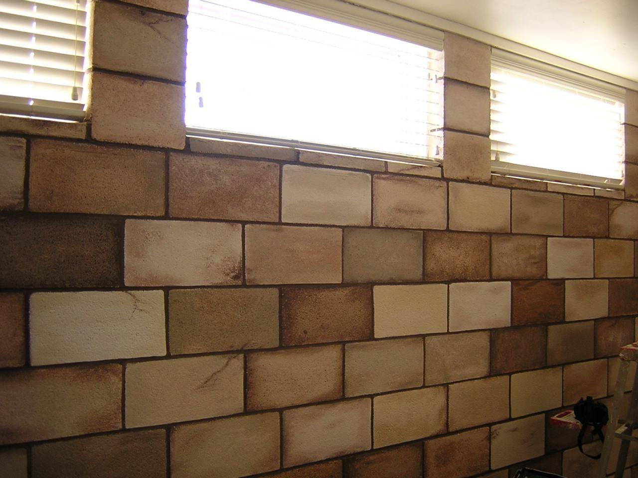 Decorating Ideas For Concrete Block Walls Cinder Block Walls Painting Concrete Concrete Block Walls