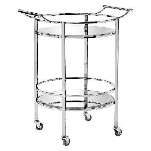 Metal Kitchen Cart Silver Maaya Home Target Kitchen Cart Bar Cart Metal Bar Cart