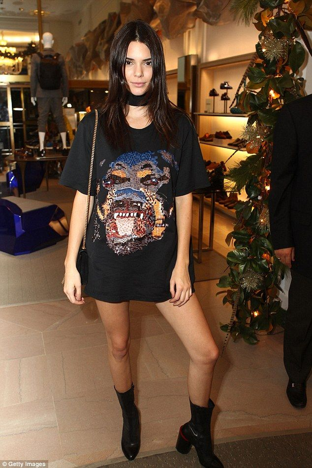 Celebrity favourite: Natalie Chapman's chokers have been worn by Kendall Jenner (pictured)...