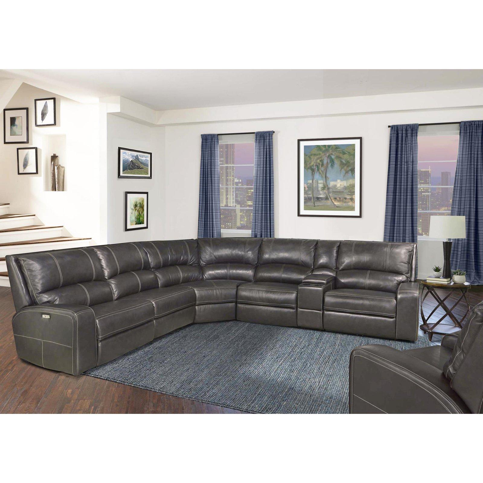Parker House Swift 6 Piece Modular Sectional Power Reclining Sectional Sofa Sectional Sofa