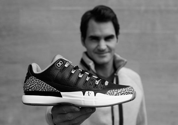 1ab7fcf08d8d Jordan Brand and Nike are teaming up once again to bring back the Roger  Federer x Michael Jordan Nike Zoom Vapor Tour Jordan 3 model in Fire Red.  More