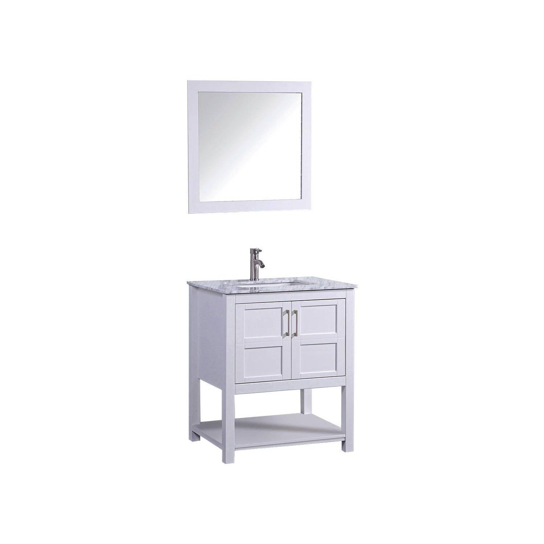 mirror size for 30 inch vanity. MTD Vanities Norway 30 Inch Single Sink Bathroom Vanity Set With Mirror And  Faucet