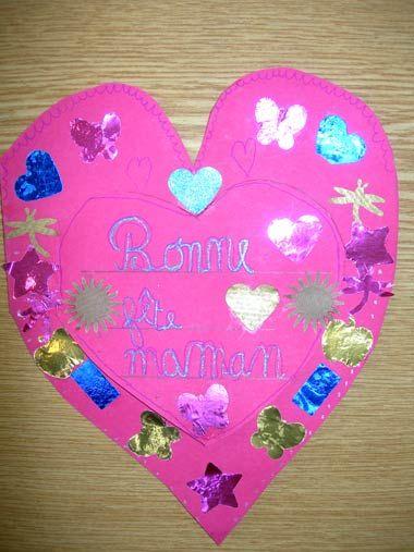 Carte Coeur Fête Mères école Maternelle Carte Fête Des Mères