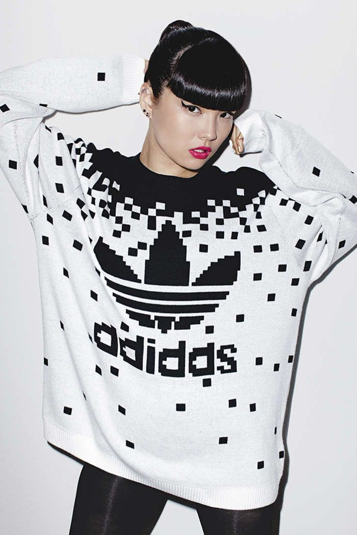 8b11d232b2d0 Flaming Rouge Editorials   red obsession Jeremy Scott Adidas