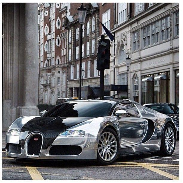 Chrome Bugatti Veyron.