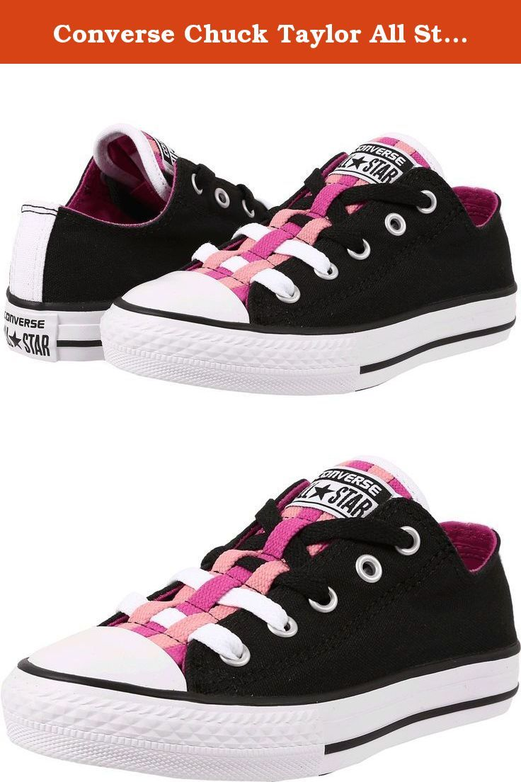 cebfdba0987a0d Converse Chuck Taylor All Star Lo Top Loopholes Black Plasti (2 M US Little  Kid