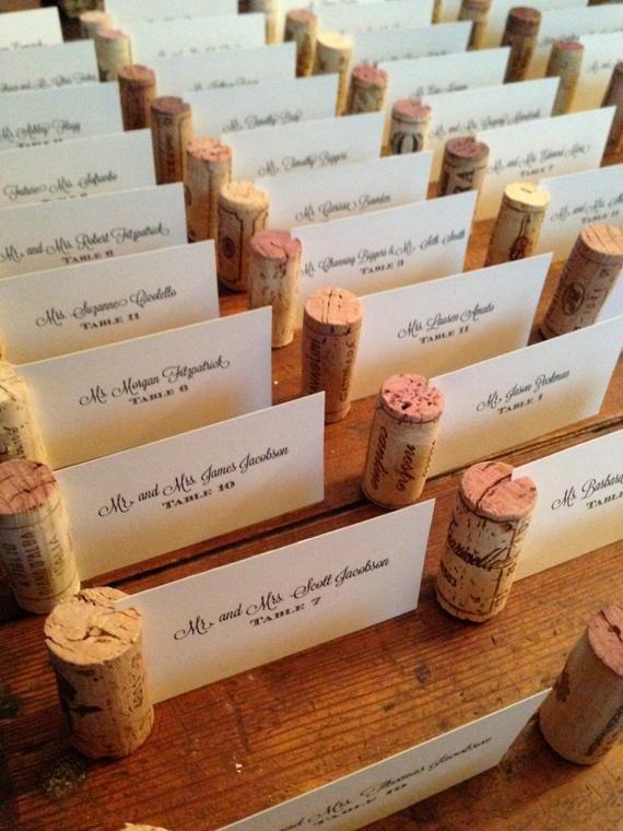 Wine Cork Place Cards