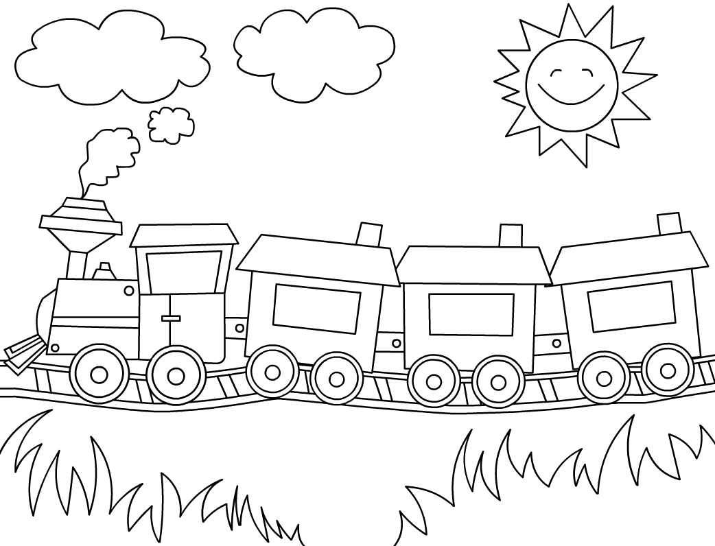 Trenzinhos Atividade Infantil Pintura Para Criancas Desenho