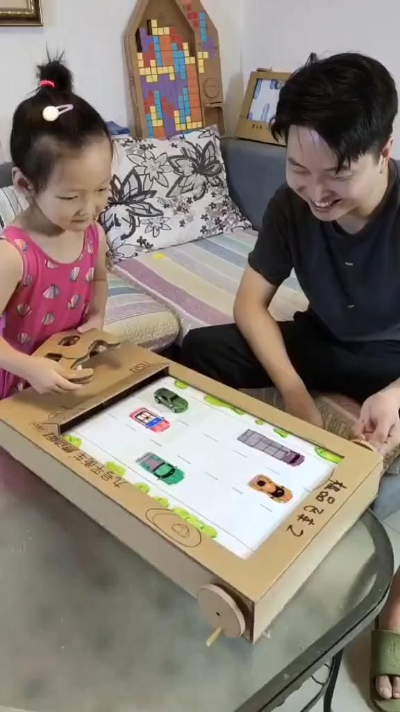 Cardboard Driving Game For Kids