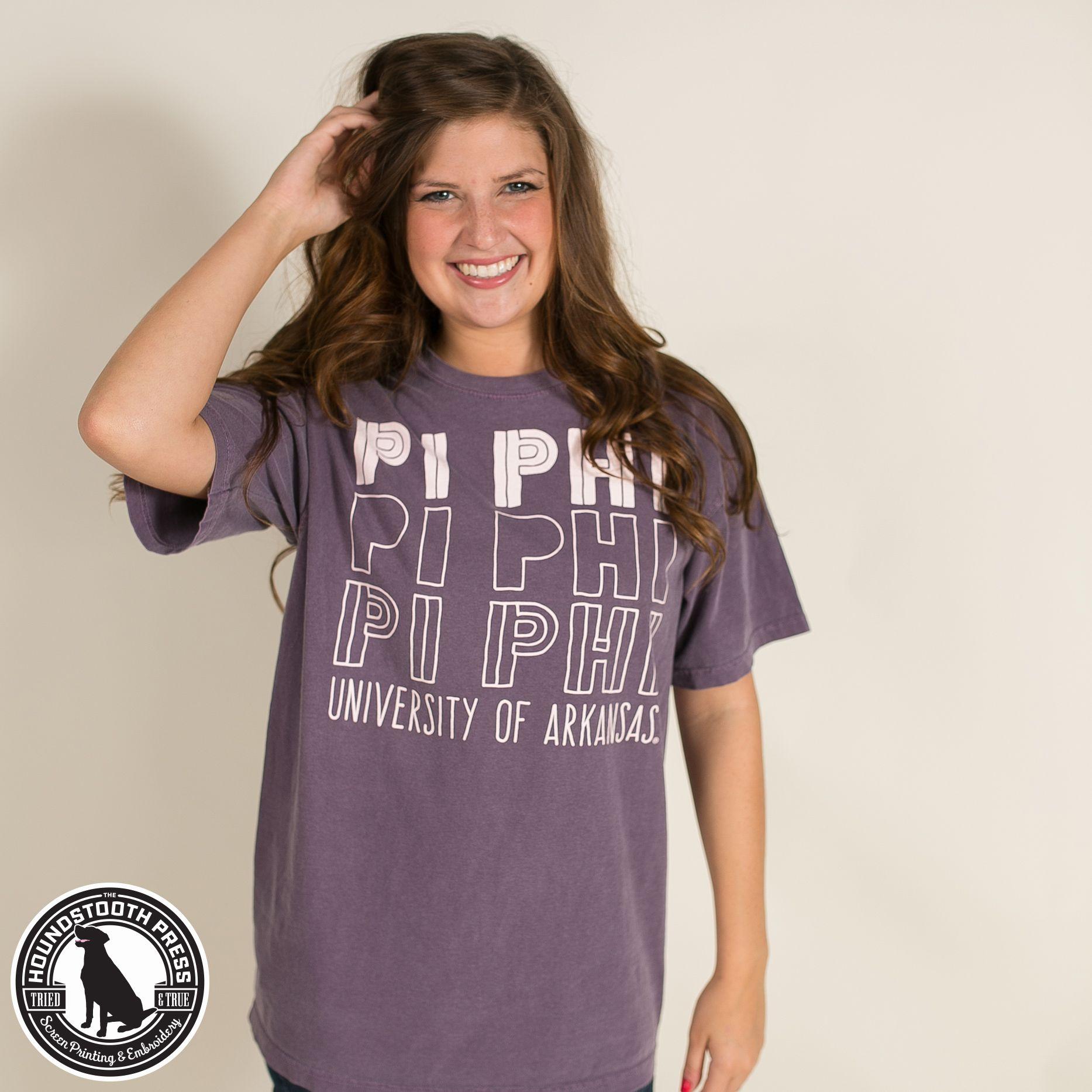 University Of Arkansas Pi Beta Phi Promotional T Shirt Comfort