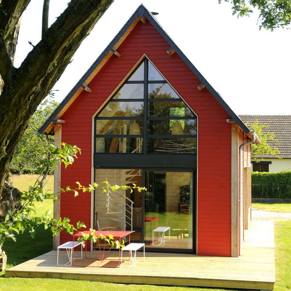 Une petite maison d 39 architecte en bois architecture pinterest petite maison maison et - Construire maisonnette en bois ...