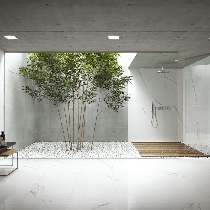 Statuario Extra – Natural is a white Italian porcelain tile.