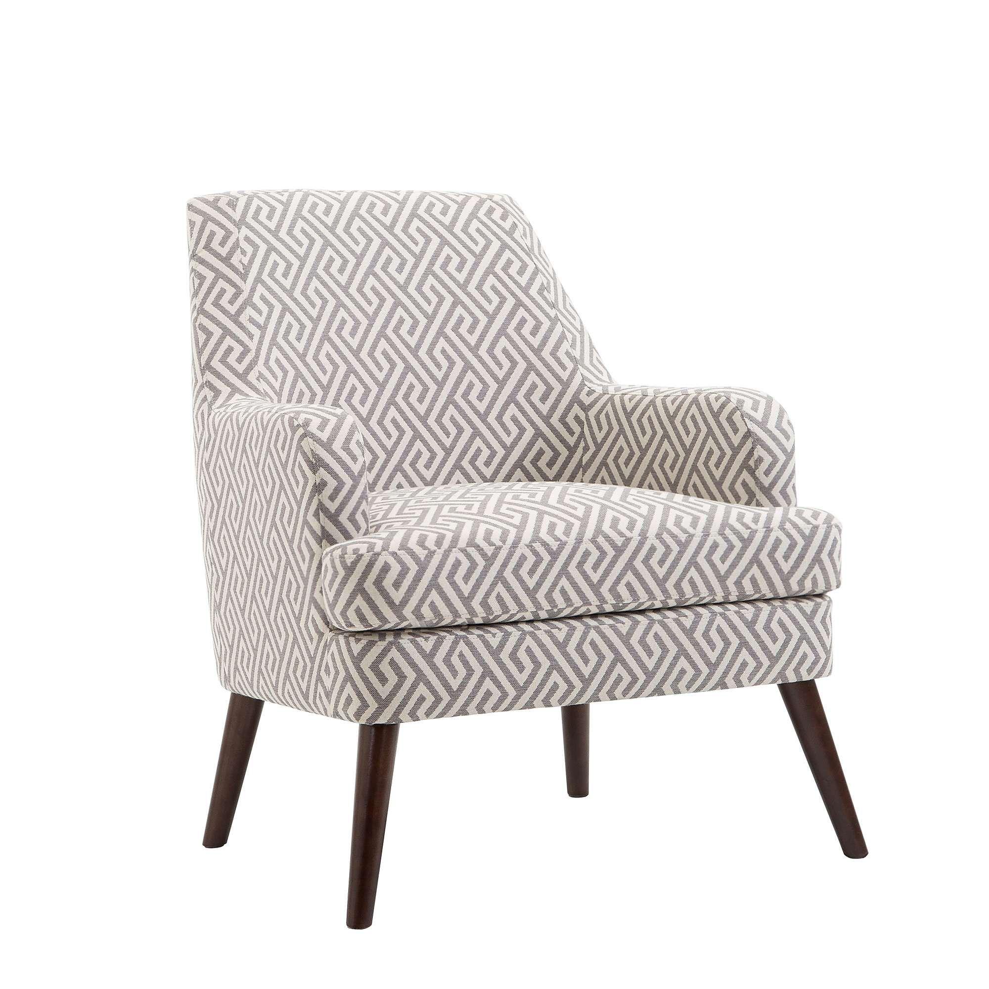Reuben Geo Print Accent Chair Grey Dunelm Printed Accent