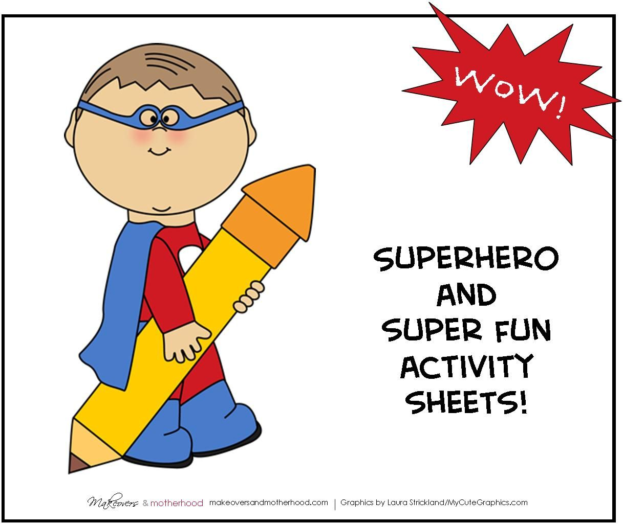 Superhero Activity Pack Printable