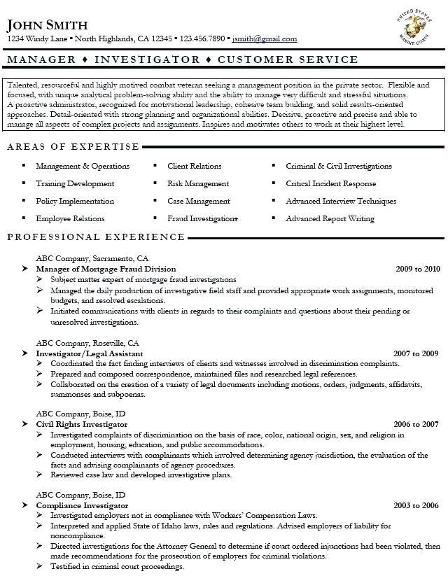 Resume Writing Help For Veterans