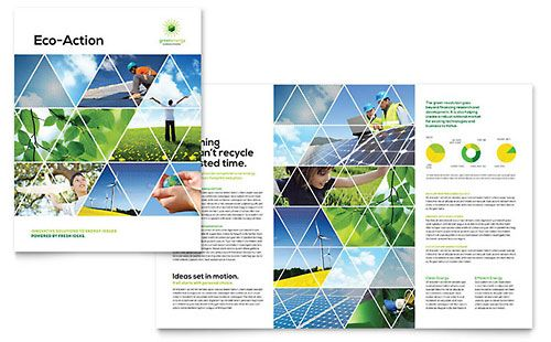 Green Energy Consultant Brochure Template Design Brochures - microsoft word templates newsletter