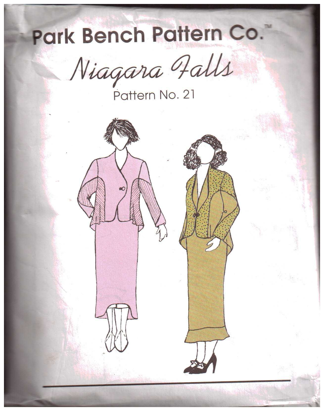 Park Bench Pattern Company 21 Niagara Falls Top Skirt Size All