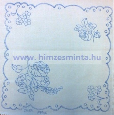 6e795d3f35 Virágcsokros kisterítő 27cm X 27cm, Hímzés minta: Virágmintás Anyaga:  Napszövet 67% pamut