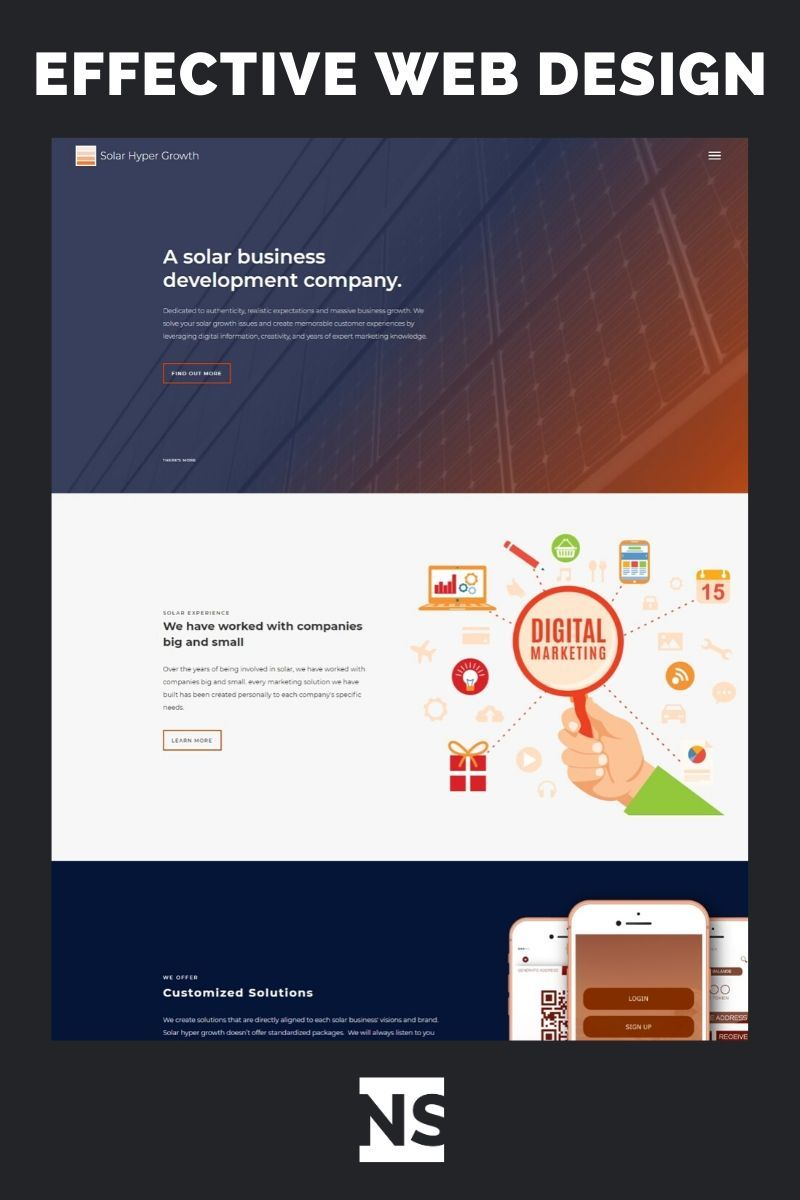 Effective Web Design In 2020 Web Design Agency Fun Website Design Website Design