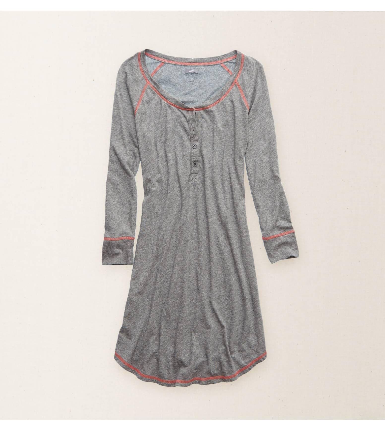98d7ba592b9c Dark Heather Grey Aerie Softest Sleep Shirt - Sleep softly   lounge  adorably!  Aerie