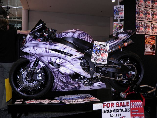 airbrush r6 | Custom NOS 2007 Yamaha R6 Airbrush - a photo ...