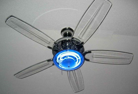 Bedroom Ceilling Fans With Blue Neon Light Bedroom