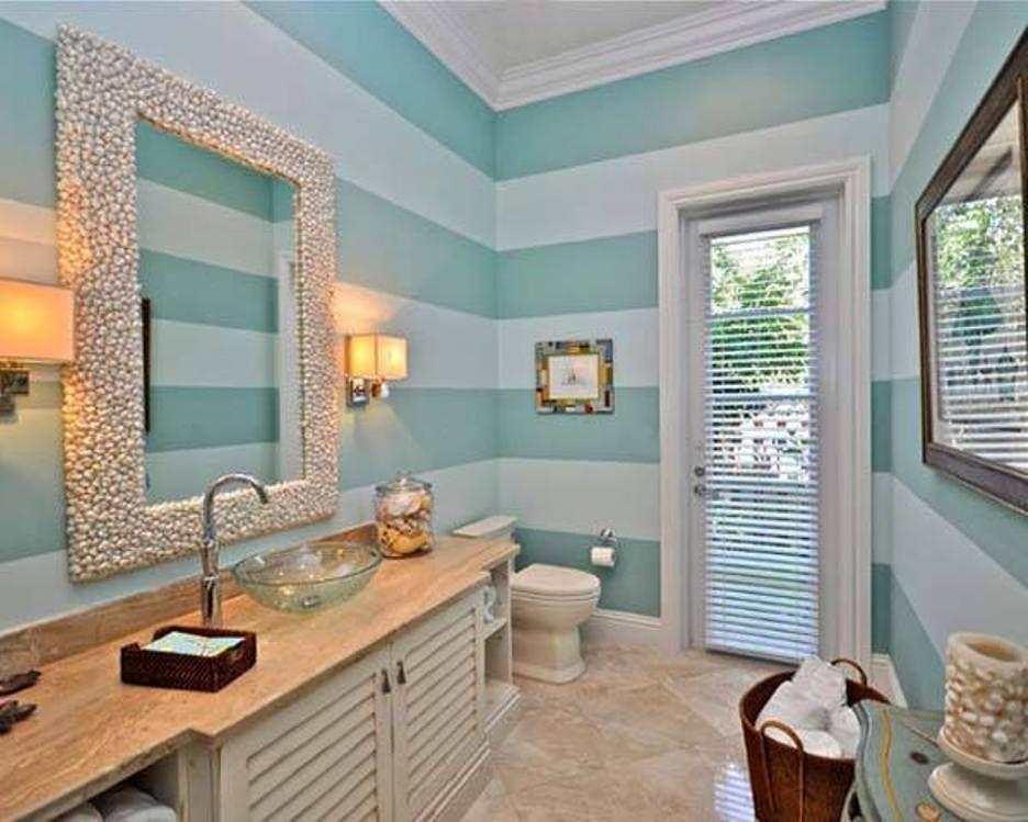 Bathroom Fresh Nautical Ideas Striped Wall And Decor Sconces