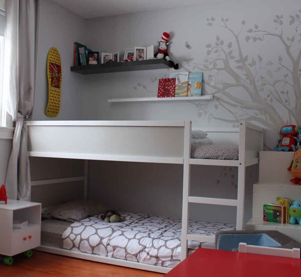 Ikea kura bed apartment therapy kids bedroom ideas for Ikea kids loft bed