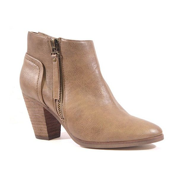 1a30a2dcf02 Chelsea Crew Taupe Babel Ankle Boot ( 35) ❤ liked on Polyvore featuring  shoes