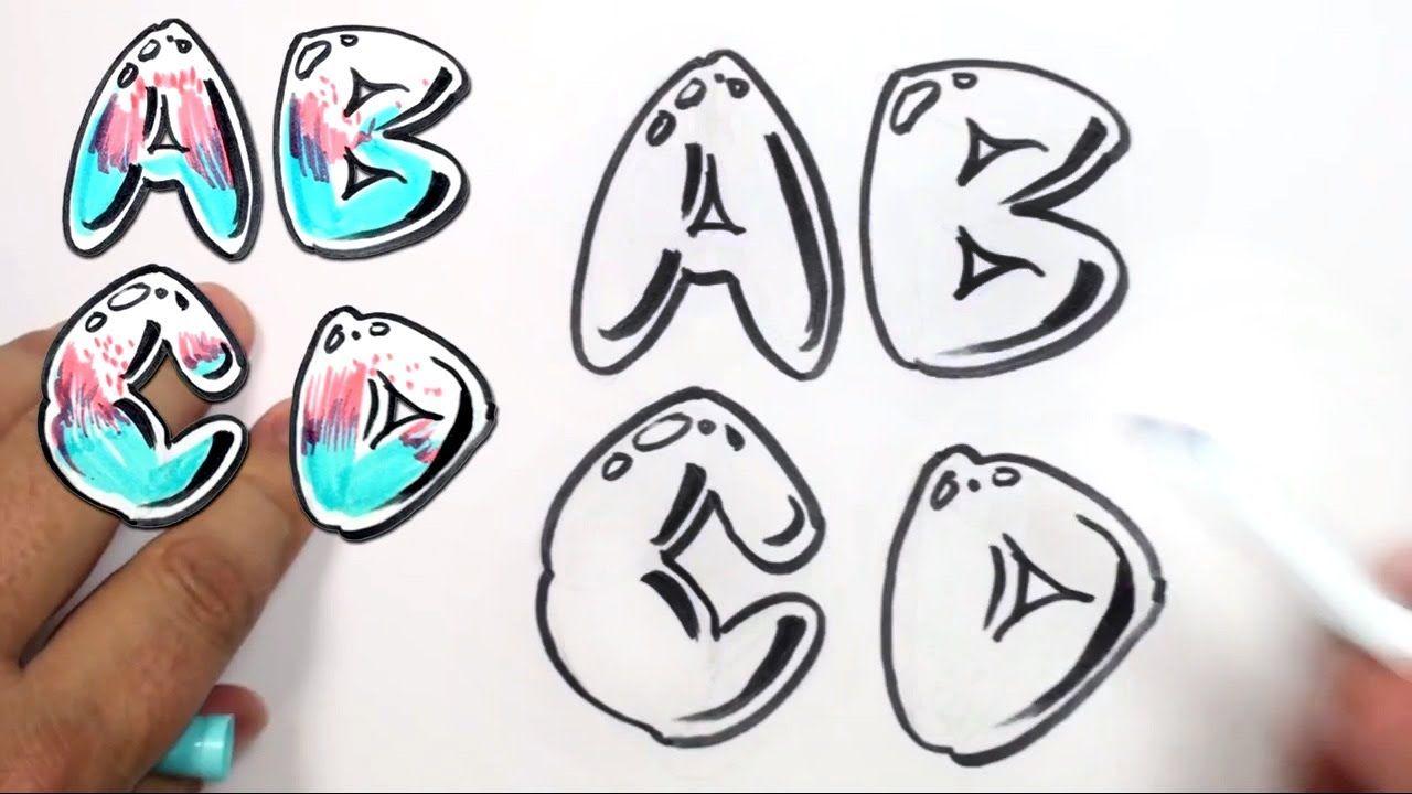 Graffiti Letters Alphabet Bubble Letters Alphabet A B C D Mat Bubble Letters Alphabet Lettering Alphabet Graffiti Lettering