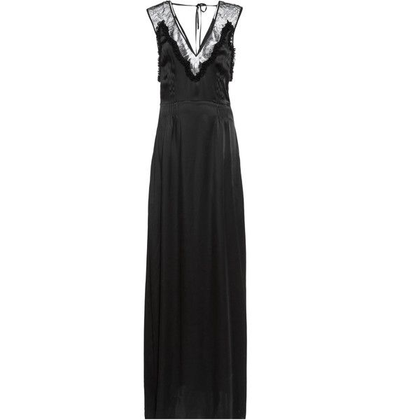 lace detail gown - Black Rochas S1ZMe