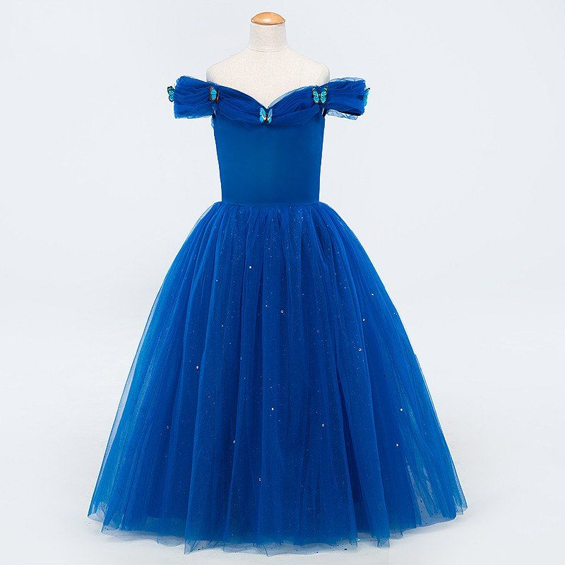 Click to Buy << 2017 Fashion Blue Cinderella Ball Gowns Graduation ...