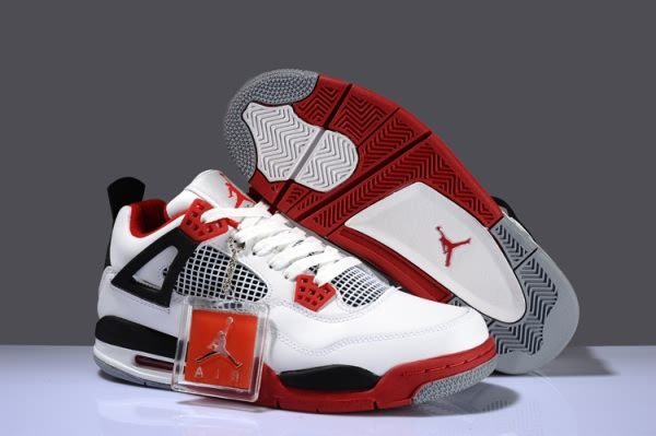 af5203c5500 Air Jordan 4 RETRO A White/Varsity Red/Black Men's shoes | Soleciety ...