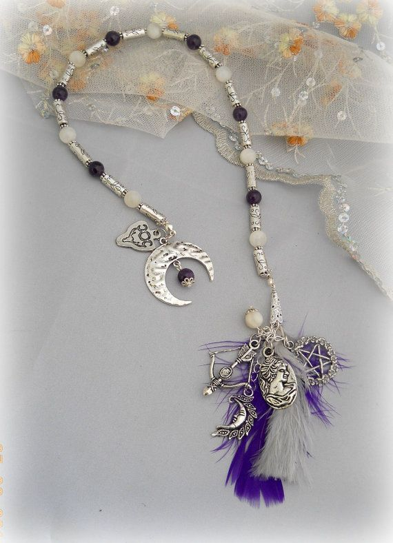 Witch's Ladder with goddess Diana theme  Very lovely Etsy