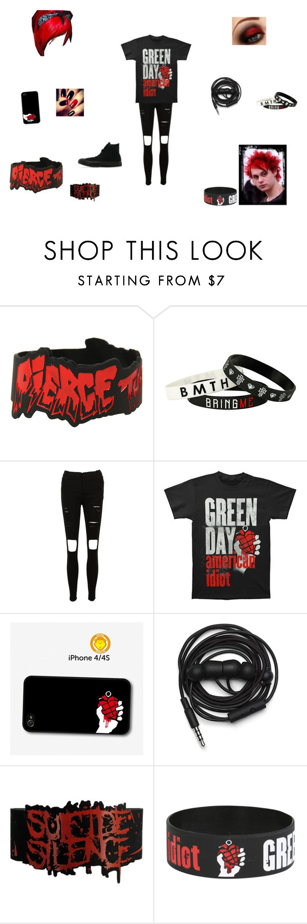 """reeeeed"" by xxpiercetjessxx on Polyvore featuring Gosh, Urbanears, Converse, women's clothing, women, female, woman, misses and juniors"