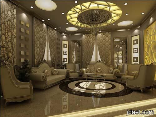 ديكورات قصور وافخم اسقف الجبس للتصاميم الداخليه للقصر لمهندسين سعوديين منتدى جدايل House Styles Living Room Lounge Home Furniture