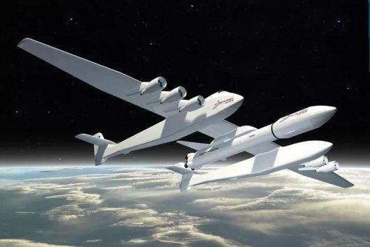 LosyZiemi.pl - USA – Pokazano największy samolot świata, w przyszłości będzie służył do wystrzeliwania satelitów na orbitę, rozpiętość skrzydeł 117 metrów, udźwig ponad 250 ton