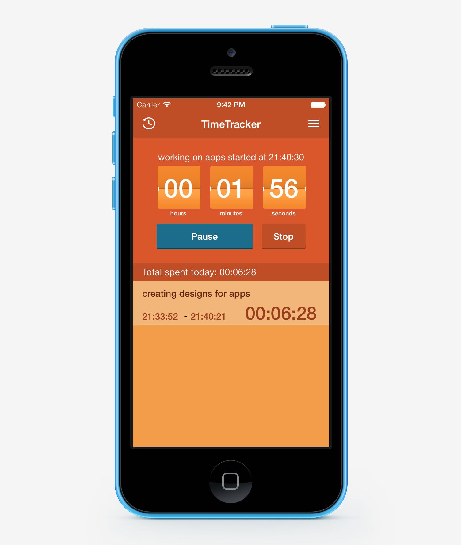 Free Time Tracker App Ios App Design App Ios App Design App